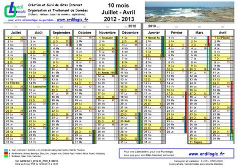 Calendrier Juillet 2012 Ordilogic Fr Calendrier 10 Mois Juillet Avril 2012 2013