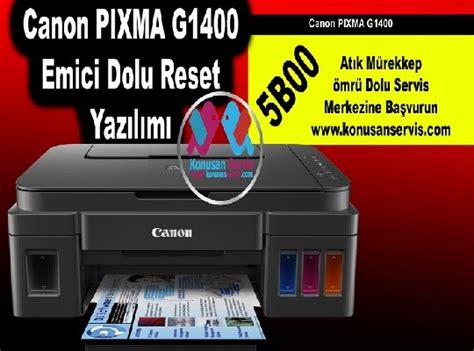 reset tool canon e400 canon g1400 sınırsız reset programı
