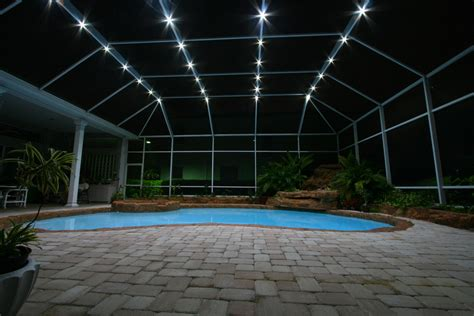 Nebula Lighting Systems Rail Light System Pools Pool Patio Lighting