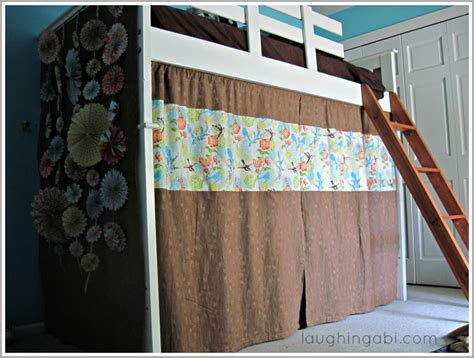 Bunk Bed Fort Curtains Diy Loft Bed Curtains Loft Bed Curtains And Bed Curtains