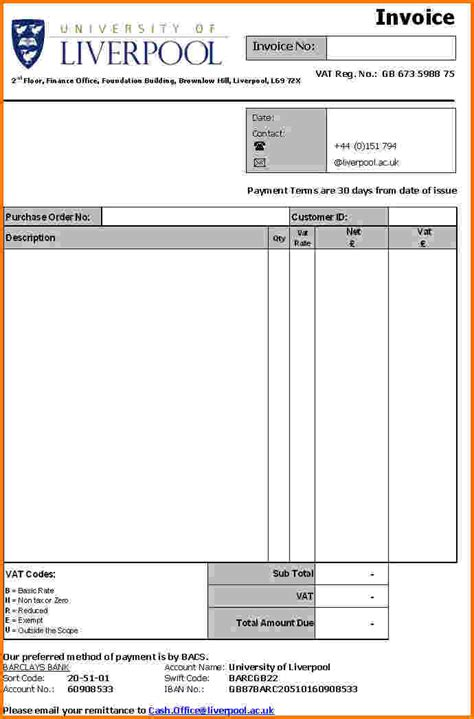 5 Formal Invoice Template Financial Statement Form Formal Invoice Template