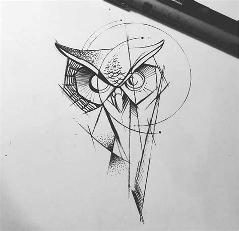geometric owl tattoo elaxsir