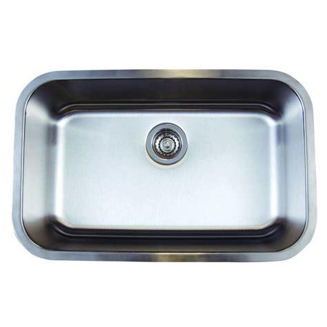 28 Kitchen Sink Blanco Stellar Undermount Stainless Steel 28 In 0 Single Basin Kitchen Sink 441024