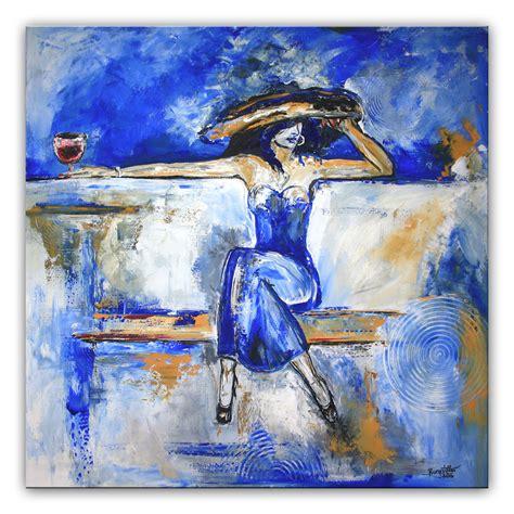 bilder modern bild frau modern abstrakte malerei blau alex b bei