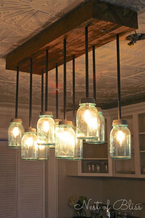 Mason jar chandelier nest of bliss