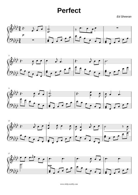 ed sheeran perfect piano mp3 ed sheeran perfect sheet music for piano and keyboard