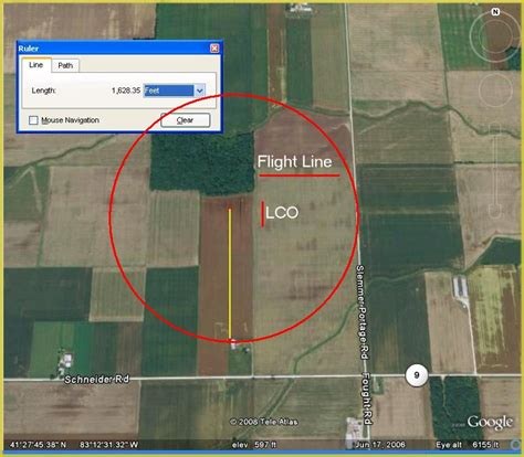 500 ft to miles filing for faa launch authorization national association