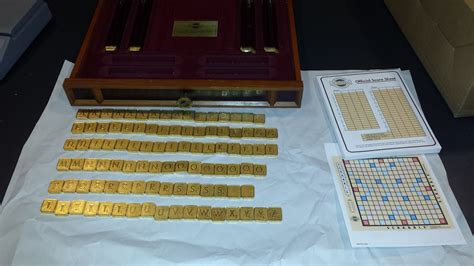 vip scrabble the franklin mint limited edition scrabble replacements
