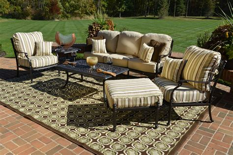 patio furniture seating sets serena 6 luxury cast aluminum patio furniture