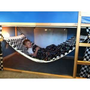 made bunk bed hammock made with that ikea bunk