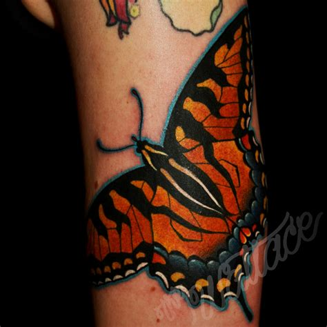 tiger butterfly tattoo blue swallowtail butterfly