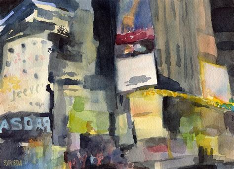 paint nite in nyc billboards times square at watercolor painting of