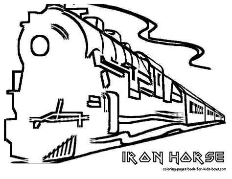 free train color word coloring pages