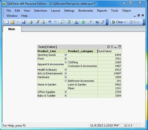 Pivot Table Qlikview Tutorial | qlikview pivot tables