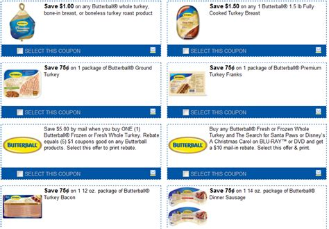 printable butterball turkey coupons butterball turkey printable coupons coupon princess