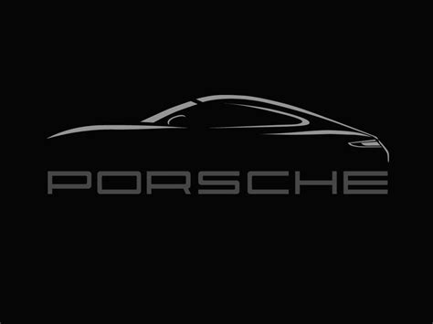 porsche logo black and white porsche logo black background www imgkid com the image