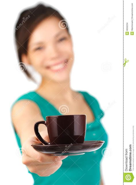 Waitress serving coffee stock photo. Image of espresso   8656234