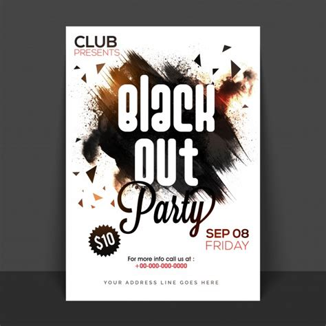 design poster for party black and white party vectors photos and psd files free