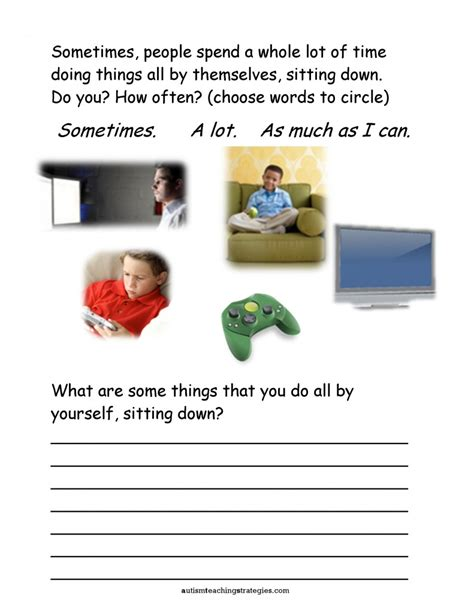 Free Printable Worksheets For Autistic Children by Seven Social Skills Worksheets For With Asd Who Are