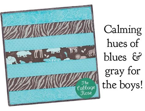 cabbage corner cuddly minky quilt kits for baby