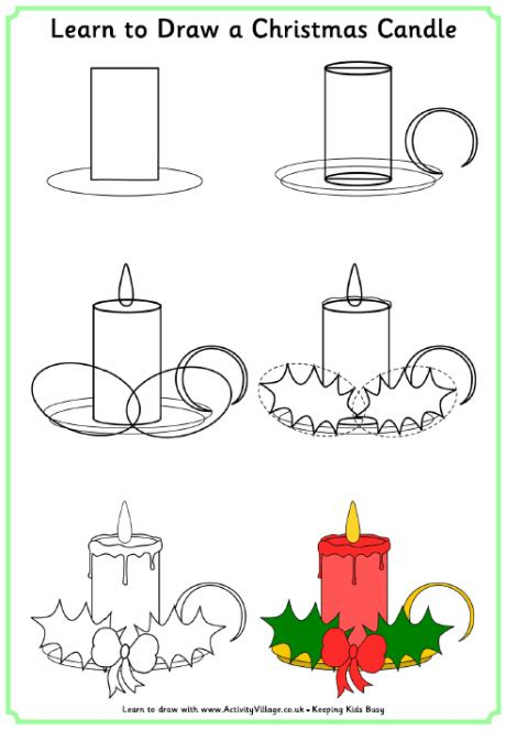 learn doodle drawing learn to draw a candle