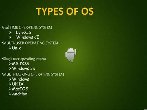 os android ppt on android os vinit