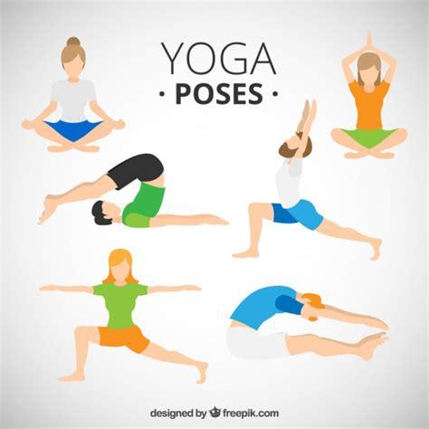 imagenes de posturas de yoga gratis gente haciendo posturas de yoga descargar vectores gratis