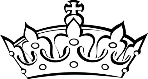 Crown Black And White Clipart crown clip black and white wesharepics