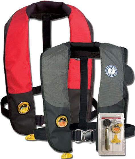 Mustang Automatic Life Jackets by Mustang Hydrostatic Inflatable Automatic Pfd W Harness