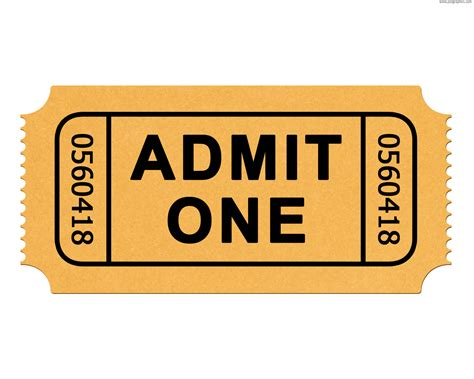 admit one ticket template clipart best