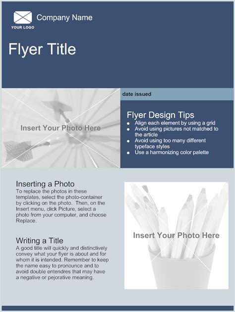 template for flyers for free flyer template