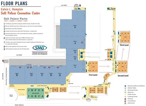 Salt Palace Convention Center Floor Plan | salt palace convention center snap map