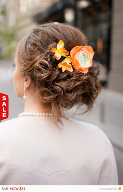 wedding hair accessories orange orange wedding hair accessories sale wedding