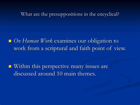 meaning of themes in powerpoint ppt themes of on human work laborem exercens
