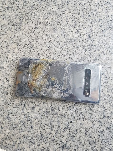 A Samsung Galaxy S10 Has Exploded by Images Of Exploded Samsung Galaxy S10 5g Evoke Memories Of Note 7 Debacle Notebookcheck Net News