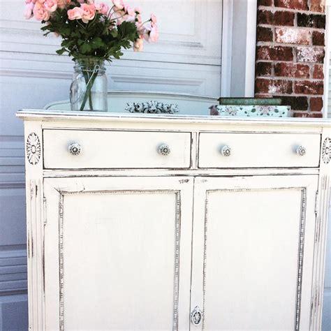 Shabby Chic Cabinet In Antique White Milk Paint General White Shabby Chic Cabinet