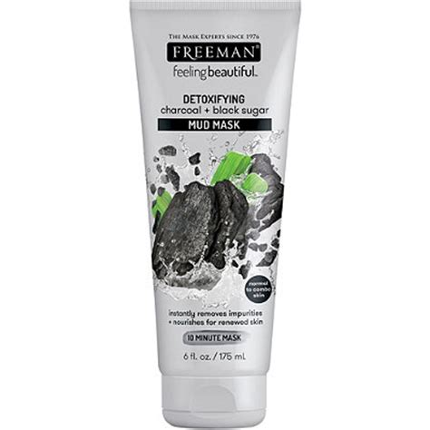 freeman feeling mask 175ml freeman feeling beautiful detoxifying charcoal black sugar
