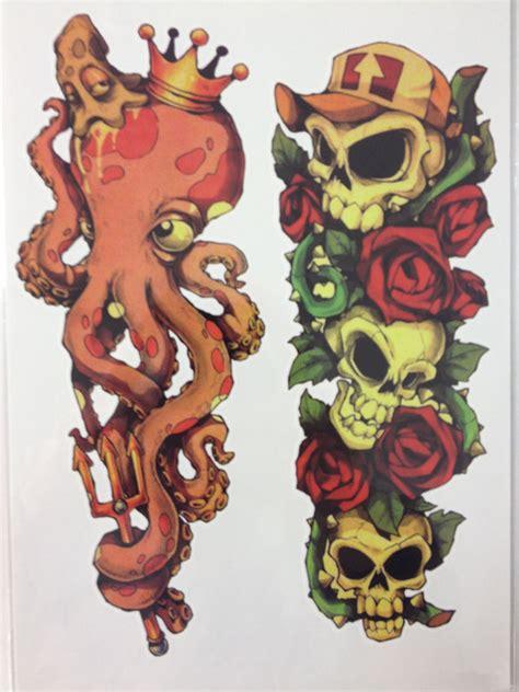 everett tattoo emporium 34 photos 15 reviews new arrival 21 x 15 cm octopus and skull cute temporary