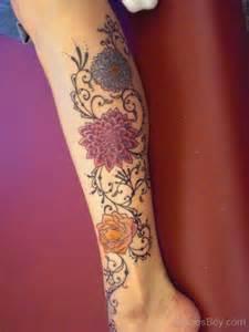 beautiful flower tattoo design on legs tattoo designs