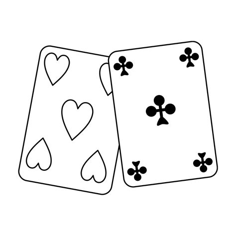 free coloring pages of playing card