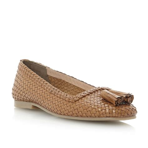 brown tassel loafers womens bertie louisetta womens brown woven tassel
