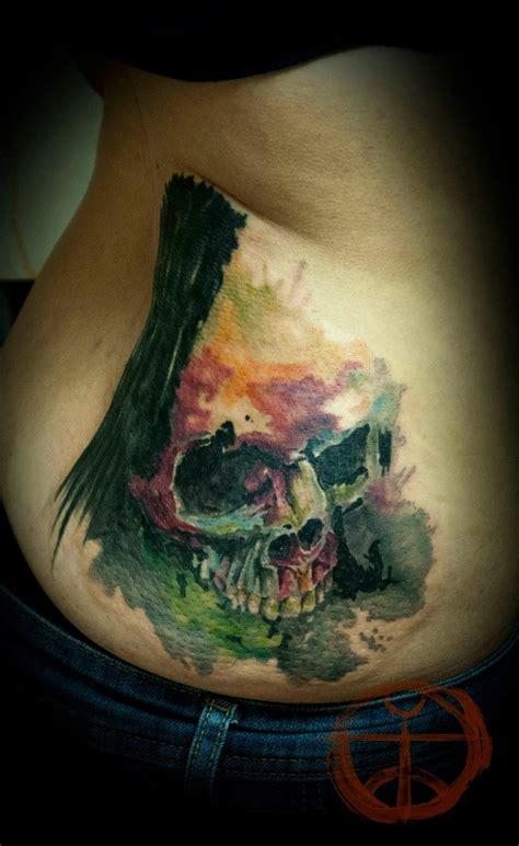 12 watercolor skull tattoo designs pretty designs watercolor skull by koraykaragozler on deviantart