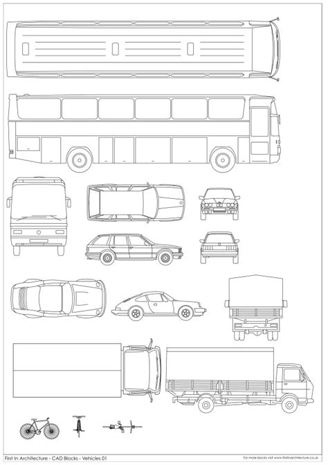 car templates for autocad cad blocks vehicles 01 first in architecture