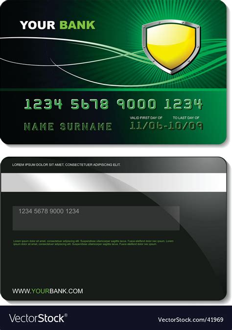 credit card comparison website template credit card template royalty free vector image