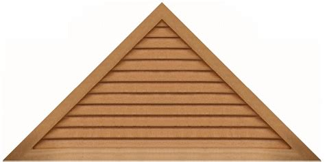 Triangular Gable Louvers Vents And Grilles For The Hvac Industry