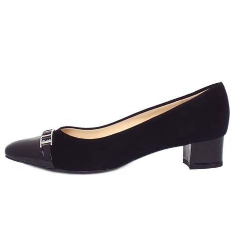 kaiser arla s low heel shoes in black suede