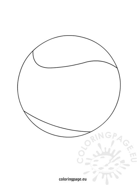 coloring pages tenis ball