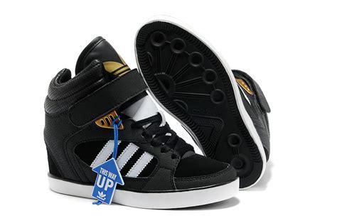adidas wedge sneakers black adidas clover sky hi wedge sneakers black white g95649