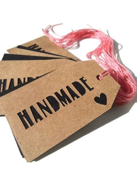 Handmade Price Tags - handmade price tags with cut out on brown kraft