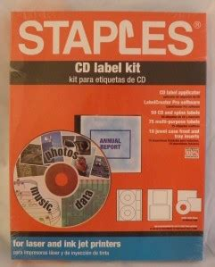 staples cd labels template staples cd label kit 32956 software labels cases ebay